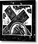 Jesus Falls The First Time Metal Print