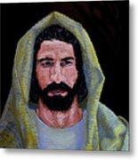 Jesus In Contemplation Metal Print