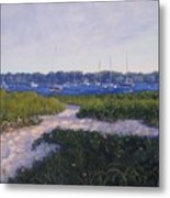 Jetty Beach Path Metal Print