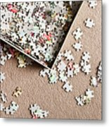Jigsaw Puzzle Metal Print