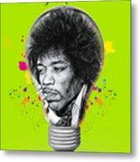 Jimi Hendrix Electric Metal Print
