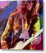 Jimmy Page Les Paul Gibson Metal Print