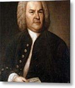 Johann Sebastian Bach, German Baroque Metal Print