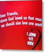 1 John Bible Verse Metal Print
