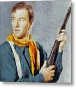 John Wayne, Vintage Hollywood Legend Metal Print