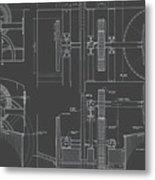 Jonval Turbines - Fairmount Waterworks - Philadelphia, Pa - Circa 1812 Metal Print