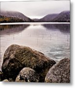 Jordan Pond Metal Print by Chad Tracy