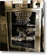Jorge Rivero Movie Theater Poster Us/mexico Border Town Naco Sonora Mexico Metal Print