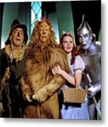 Judy Garland And Pals The Wizard Of Oz 1939-2016 Metal Print
