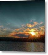 June Sunset On Nicks Lake Metal Print