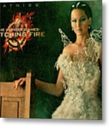 Katniss Hunger Games Catching Fire Metal Print