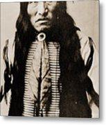 Kicking Bear Indian Chief Metal Print