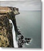 Kilt Rock Waterfall - Isle Of Skye Metal Print