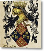 King Of England Coat Of Arms - Livro Do Armeiro-mor Metal Print by Serge Averbukh