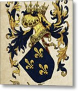 King Of France Coat Of Arms - Livro Do Armeiro-mor  Metal Print
