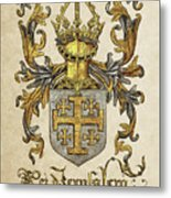 Kingdom Of Jerusalem Coat Of Arms - Livro Do Armeiro-mor Metal Print by Serge Averbukh