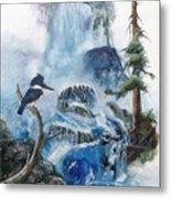 Kingfisher's Realm Metal Print