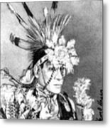 Kiowa Indian Metal Print