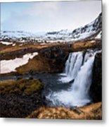 Kirkjufellsfoss Waterfalls Iceland Metal Print