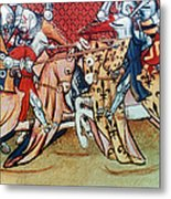 Knights In Tournament Metal Print