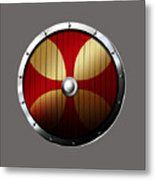 Knights Templar Shield Metal Print