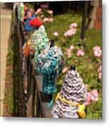 Knit Fence Protectors Metal Print
