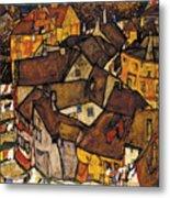Krumau - Crescent Of Houses Metal Print
