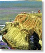 La Jolla Swimmers  Metal Print by Donald Maier