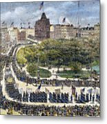 Labor Day Parade, 1882 Metal Print