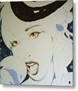 Lady Gaga Lady  Metal Print