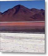 Laguna Colorada And Mountains Metal Print