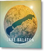 Lake Balaton 3d Little Planet 360-degree Sphere Panorama Metal Print