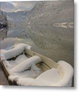 Lake Bohinj In Winter Metal Print