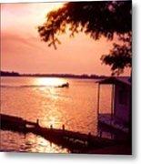 Lake Chicot Sunset Metal Print
