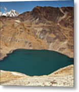 Lakeview From Pico Austria Pass Metal Print