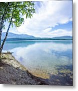 Lake Mcdonald In Glacier National Park Montanaa Metal Print