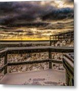 Lake Mi Sunset 5 Metal Print