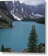 Lake Moraine In Canada Metal Print