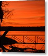 Orange You Glad I Took This Shot Metal Print
