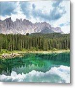 Lake Of Carezza - Italy Metal Print
