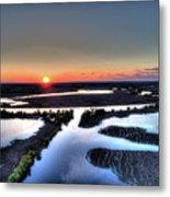 Lake Poygan Sunset Metal Print