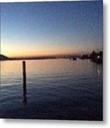 Lake Zurich At Sunset Metal Print