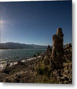 Lakefront And Sunset At Mono Lake, Eastern Sierra, California, U Metal Print