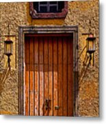 Lamps And Door Metal Print