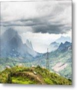 Landscape Around Kasi In North Laos Metal Print