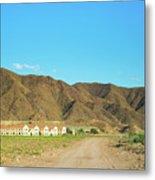 Landscape Desert In Almeria, Andalusia, Spain Metal Print