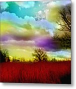 Landscape In Red Metal Print by Julie Grace