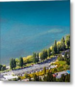 Landscape Of Lake In The South Island, Queenstown New Zealand  Metal Print