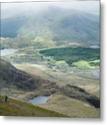 Landscape View Of Llyn Cwellyn And Moel Cynghorion In Snowdonia  Metal Print