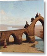 Landscape With Bridge Metal Print